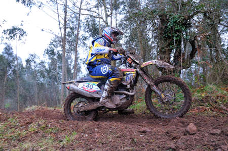 spain championship: VILLAVICIOSA, SPAIN - MARCH 22: The rider Alejandro Andreu on competition of Spain Championship Cross Country in March 22, 2015 in Villaviciosa, Spain.