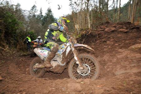 spain championship: VILLAVICIOSA, SPAIN - MARCH 22: The rider Unai Mugica on competition of Spain Championship Cross Country in March 22, 2015 in Villaviciosa, Spain. Editorial
