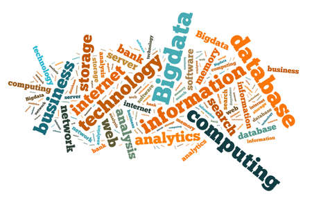 cloud search: Illustration with word cloud on Big data