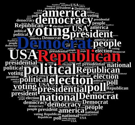 republicans: Word cloud on elections Republican and Democrat