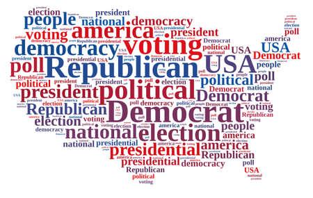republican: Nube de palabras sobre las elecciones republicano y el dem�crata