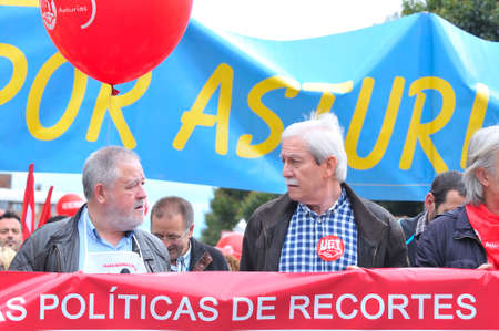 pino: GIJON, SPAIN - MAY 1: Manifestation summoned by the UGT and CCOO labor unions to celebrate Labor Day in May 1, 2015 in Gijon.