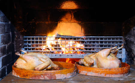 capon: Turkey prepared to put in the oven.
