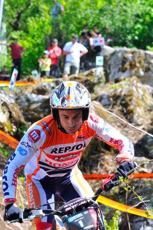 repsol honda: EL Condao, SPAIN - MAY 10: Trial Spain Championship on May 10, 2015 in El Condao, Spain. Toni Bou, 2th in the race held in Asturias.