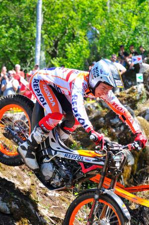 repsol honda: EL Condao, SPAIN - MAY 10: Trial Spain Championship on May 10, 2015 in El Condao, Spain.