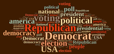 polls: Word cloud on elections Republican and Democrat