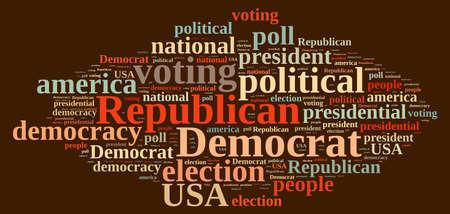 democrats: Word cloud on elections Republican and Democrat
