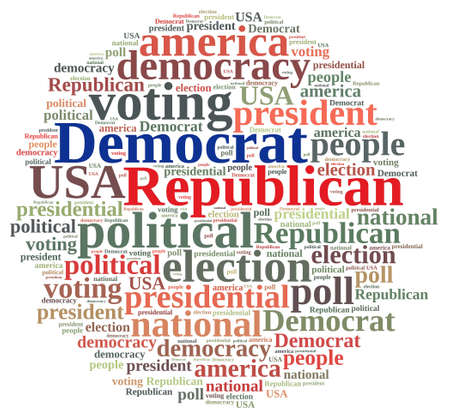 republican: Word cloud on elections Republican and Democrat