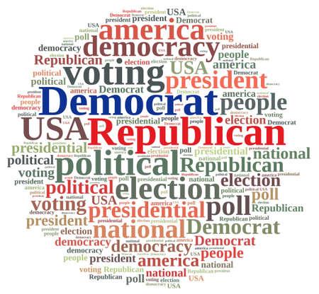 republican: Word cloud on elections Republican and Democrat