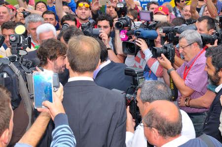 f1: ASTURIAS, SPAIN - JUNE 26: Inauguration museum of F1 driver Fernando Alonso in June 26, 2015 in Asturias, Spain. Fernando Alonso, McLaren F1 driver in the inauguration of the museum.
