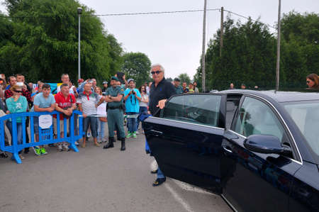 f1: ASTURIAS, SPAIN - JUNE 26: Inauguration museum of F1 driver Fernando Alonso in June 26, 2015 in Asturias, Spain. Flavio Briatore, managing director of the Renault F1 team in 2003, when Fernando Alonso was one of his drivers. Editorial