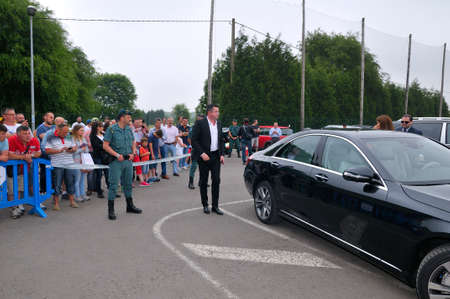 f1: ASTURIAS, SPAIN - JUNE 26: Inauguration museum of F1 driver Fernando Alonso in June 26, 2015 in Asturias, Spain. René Eric Boullier, team manager of the team F1 McLaren on arrival at the inauguration of the museum Fernando Alonso.