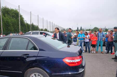 f1: ASTURIAS, SPAIN - JUNE 26: Inauguration museum of F1 driver Fernando Alonso in June 26, 2015 in Asturias, Spain. Pedro de la Rosa, a retired Formula 1 Spanish arrival at the inauguration of the museum pilot Fernando Alonso.