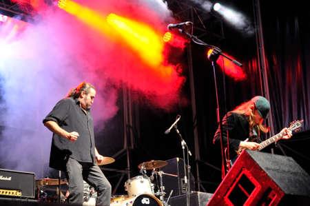 scott: GIJON, SPAIN - JUNE 27: The Bon Scott Band, one of the best European bands paying tribute to AC  DC in June 27, 2015 in Gijon, Spain. Concert in Metropoli Festival in Gijon, Spain. Editorial