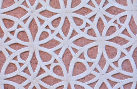 latticework: Design and drawing of a latticework in a wall.