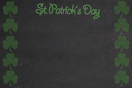 space for writing: Blackboard St. Patricks day with space for writing. Stock Photo