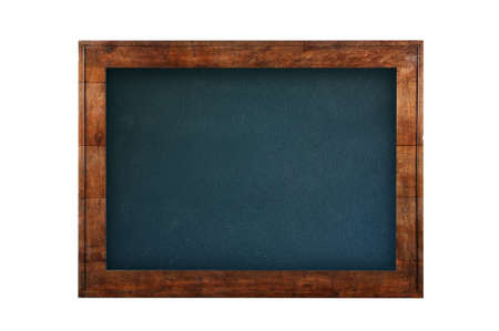 Blackboard with wooden frame against of white isolated background