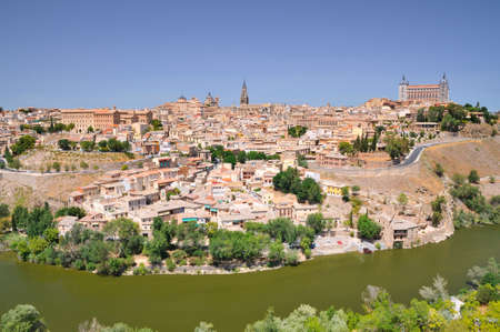 rooftops: Scenic view on rooftops of Toledo city.