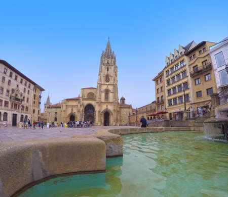 Cathedral Square of Oviedo in Spain.
