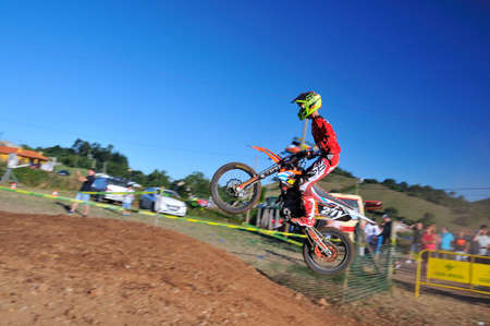 SARIEGO, SPAIN - AUGUST 22: Legendary Sariego motocross test in August 22, 2016 in Sariego, Spain. Sergio Fernandez rider with the number 271.