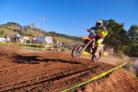 gomez: SARIEGO, SPAIN - AUGUST 22: Legendary Sariego motocross test in August 22, 2016 in Sariego, Spain. Alfredo Gomez Llosa rider with the number 89.