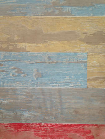 painted wood: Close-up of colorful painted old wood planks