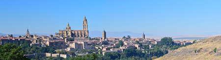 segovia: Panoramic of the Spanish city of Segovia.