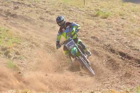 ander: SARIEGO, SPAIN - AUGUST 22: Legendary Sariego motocross test in August 22, 2016 in Sariego, Spain. Ander Valentin rider with the number 920. Editorial