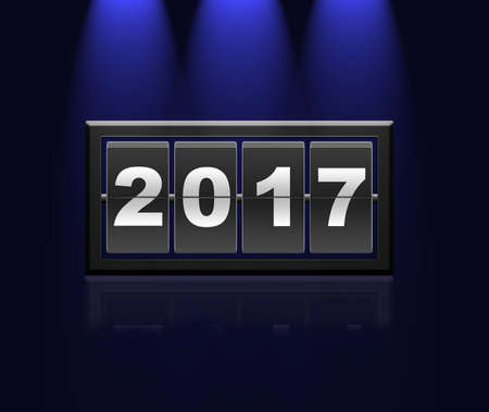 new year counter: An illustration of counter new year 2017.