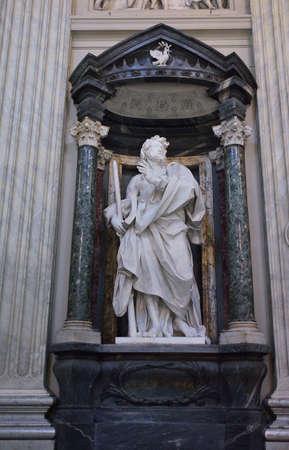 A marble statue disciple of Jesus the Apostle of St. James the Lesser by de Rossi in Basilica di San Giovanni in Laterano in Rome. Sajtókép