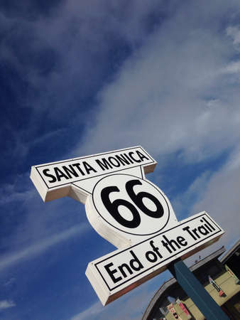 On of Route 66 sign in Santa Monica