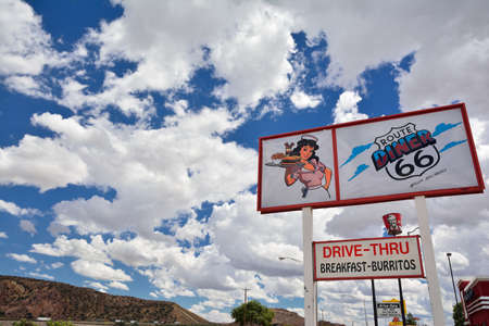 GALLUP, NEW MEXICO - JULY 22: Legendary Route 66 Diner is a classic on historic highway Route 66 on July 22, 2017 in Gallup, New Mexico