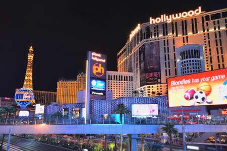 nevada: Las Vegas, Usa - July 25, 2017: Las Vegas Strip on Las Vegas boulevard in front of Planet Hollywood Resort and Casino on July 25, 2017 in Las Vegas, USA.