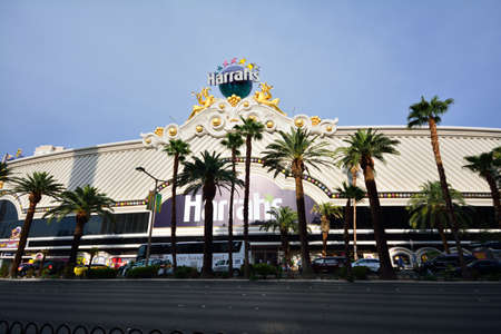 nevada: Las Vegas, Nevada - July 25, 2017 : View Harrahs Hotel and Casino in Las Vegas, Nevada on July 25, 2017. Editorial