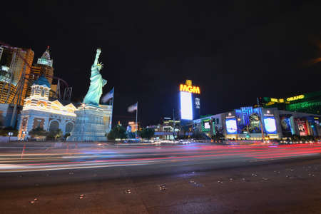 nevada: Las Vegas, Nevada - July 24, 2017: View of the New York New York hotel and casino in Las Vegas on July 24, 2017.