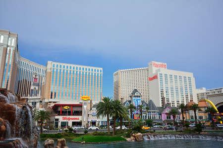 nevada: Las Vegas, Nevada - July 25, 2017 : View towards Harrahs Hotel and Casino in Las Vegas, Nevada on July 25, 2017.