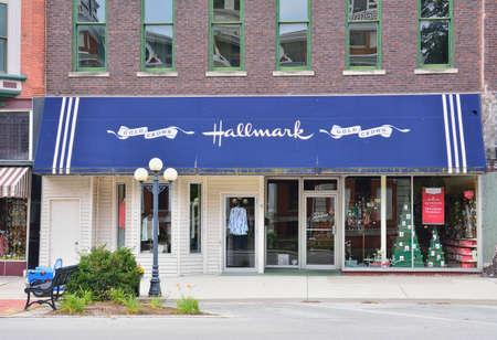 Pontiac, Illinois - 16 juli 2017: Hallmark Cards is een particulier Amerikaans bedrijf. Hallmark is in 1910 opgericht door Joyce Hall en is de grootste fabrikant van wenskaarten in de Verenigde Staten. Stockfoto - 89239363