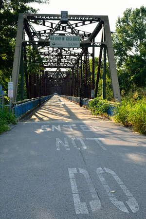 Old Chain of Rocks bridge on the Mississippi river, Granite City Illinois.