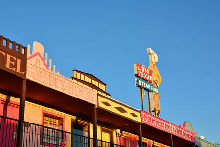 AMARILLO, TEXAS - JULY 20: Big Texan Steak Ranch, famous steakhouse restaurant and motel located in Amarillo, Texas on July 20, 2017.