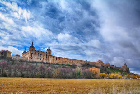 Ducal palace at Lerma, by Francisco de Mora in Lerma, Castile and Leon. Spain 免版税图像