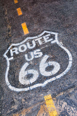 The mythical Route 66 sign in USA.