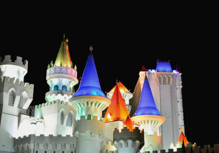 Las Vegas, Nevada - July 24, 2017: View of the Excalibur Hotel and Casino in Las Vegas on July 24, 2017. Editorial