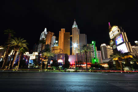 Las Vegas, Nevada - July 25, 2017: View of the New York New York hotel and casino in Las Vegas on July 25, 2017. Stockfoto - 133173120