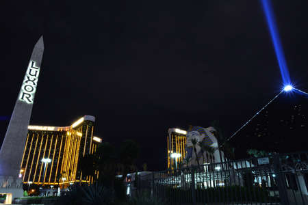 Las Vegas, Nevada - July 24, 2017: View of the Luxor hotel and casino in Las Vegas on July 24, 2017. Editorial
