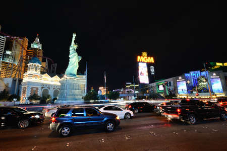 Las Vegas, Nevada - July 24, 2017: View of the New York New York hotel and casino in Las Vegas on July 24, 2017.