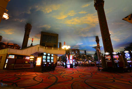 Las Vegas, Nevada - July 25, 2017: Interior of Paris Resort Casino and hotels in Las Vegas on July 25, 2017. Editorial