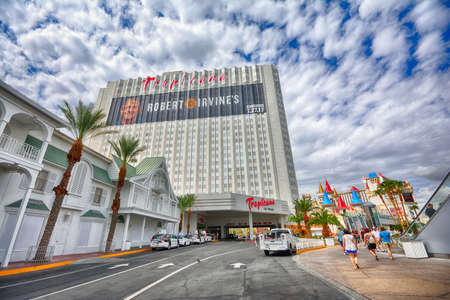 Las Vegas, Nevada - July 25, 2017: View of the Tropicana hotel and casino in Las Vegas on July 25, 2017.