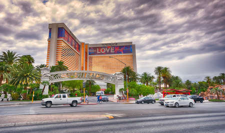 Las Vegas, Nevada - July 25, 2017: View of The Mirage Casino and Resort on the Strip in Las Vegas on July 25, 2017. Editorial