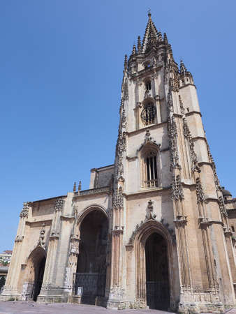 Old Oviedo Cathedral in Asturias, Spain.