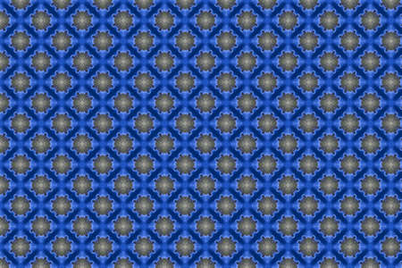 Abstract decorative textured mosaic background. Seamless pattern. Blue. Stockfoto